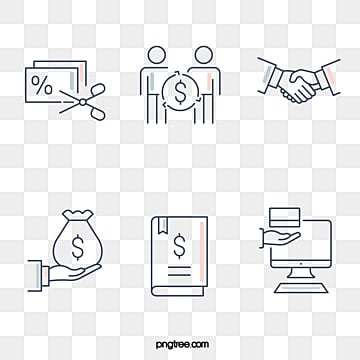 linear icon of financial category, Geometric, Simple, Linear Icon PNG and Vector