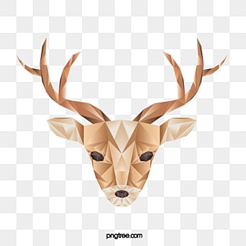 polygonal geometry sika deer, Geometric, Animal, Polygon PNG and Vector