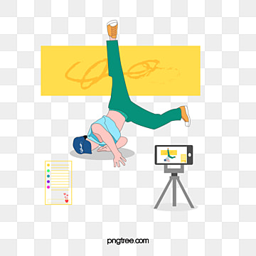 simple daily street dance live broadcast, Mobile Phone, Live Broadcast Of Mobile Phone, Simple Hand Painting PNG and Vector