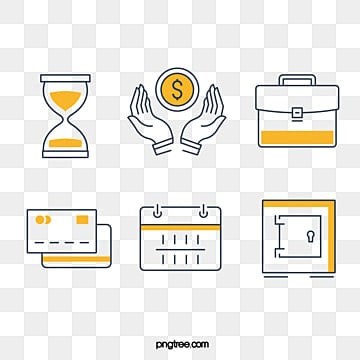 Yellow Simple Financial Linear Icon, Simple, Linear, Linear Icon PNG and Vector