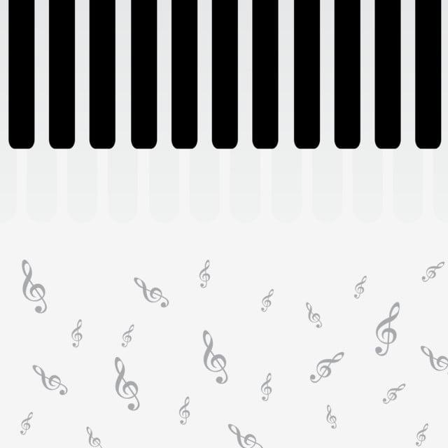 Piano Keys Flat Design Illustration, Piano, Keys, Vector PNG and