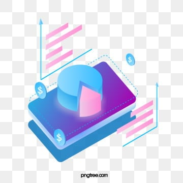 stereo mobile finance gradual change pie map, Business, Data Graph, Gradient PNG and Vector