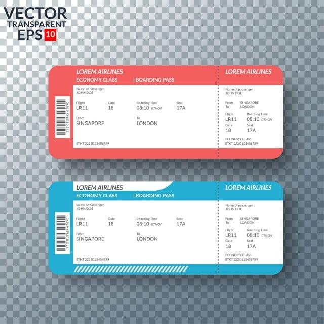 Tiket Penerbangan Atau Boarding Pass Untuk Bepergian Dengan Pesawat