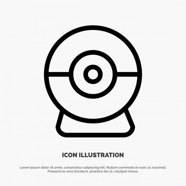 Camera Webcam Security Line Icon Vector, Calendar, Chat