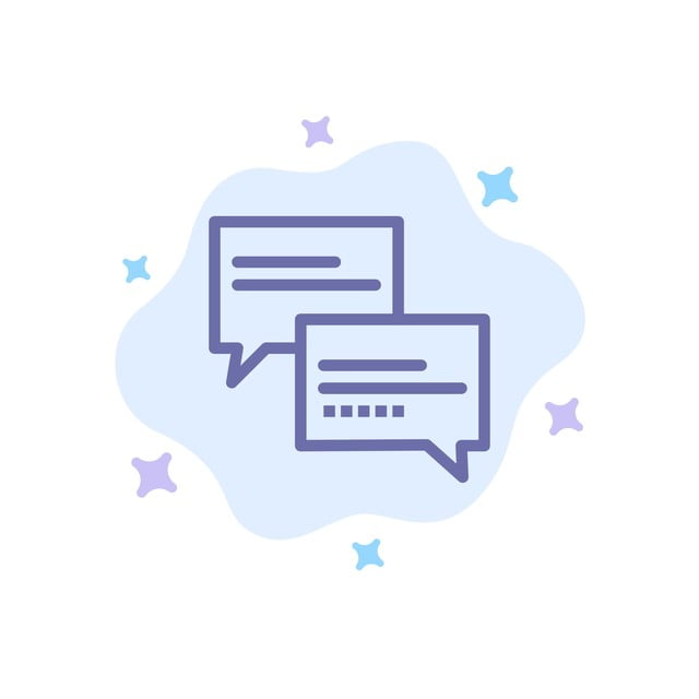 Chat Comment Message Education Blue Icon On Abstract Cloud Ba Cloud Icons Blue Icons Abstract Icons Png And Vector With Transparent Background For Free Download