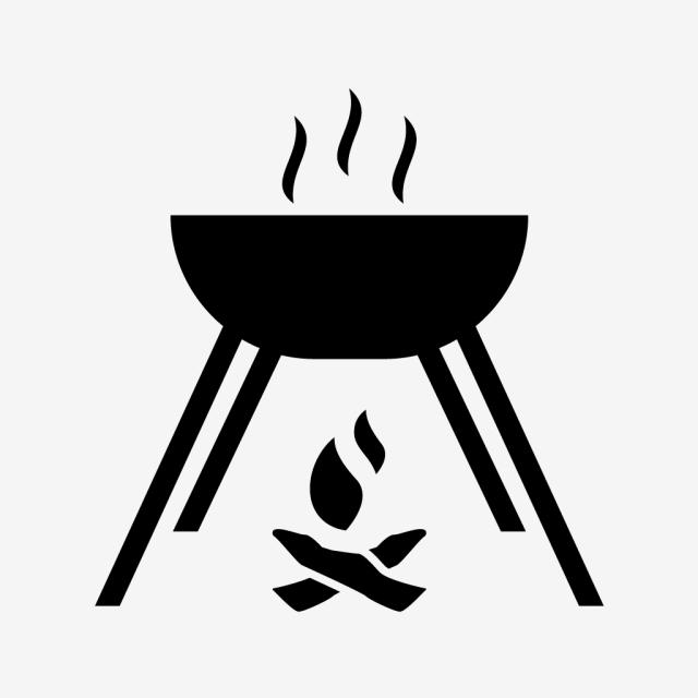 Cocinar Alimentos Glifo Icono Negro Aventura Cook La Cocina Png