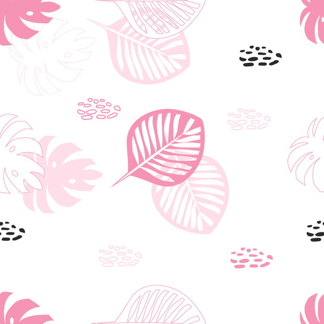 Cute Tropical Summer Seamless Pattern With Leaf Element Pattern Summer Tropical Png And Vector With Transparent Background For Free Download