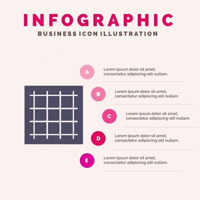 Grid,graph,drawing,area,software Solid Icon Infographics 5 S
