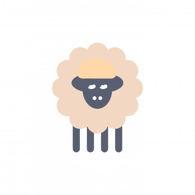 Mutton Ram Sheep Spring Flat Color Icon Vector Icon Banner Eid Al