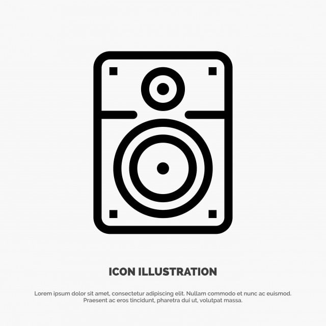 Speaker,loud,music,education Vector Line Icon, Bass, Blank, Book PNG