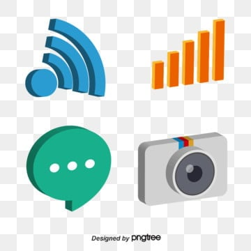 3d stereo technology communication signal wifi camera icon, 3d, Icon, Wifi PNG and Vector