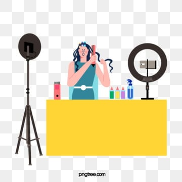 beauty beauty bos characters live broadcast, Character, Blogger, Live Broadcast PNG and Vector