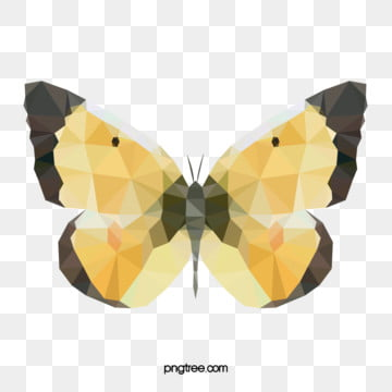 butterfly colour polygon mosaic animals, Polygonal Animals, Colorful Butterfly, Gorgeous Polygon PNG and Vector