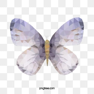 butterfly geometric splicing color butterfly, Geometric Style, Polygonal Animals, Colour Triangle PNG and Vector