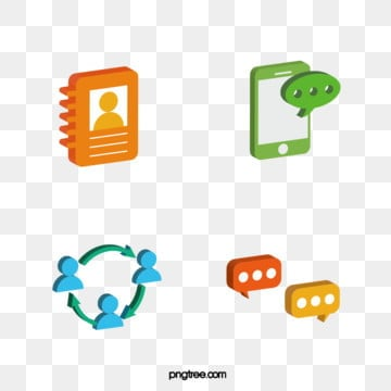 color 3d technology communication icon, 3d, Dialogue, Vectors PNG and Vector