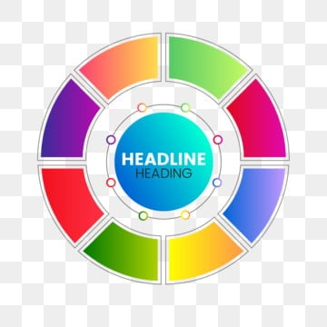 color gradient circle business infographic template, Infographic, Infographics, 3d PNG and Vector