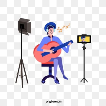 creative simple characters singing live broadcast, Character, Creative, Sing PNG and Vector