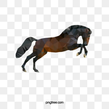 dark polygon running animal horse, Geometry, Animal, Polygon PNG and Vector