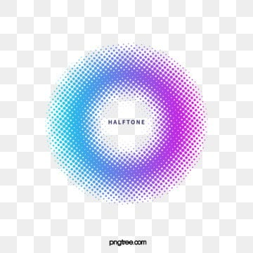 halftone style circular gradient border, Halftone Style, Copy, Color PNG and Vector