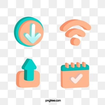 orange 3d stereo communication technology icon, 3d, Icon, Orange PNG and Vector