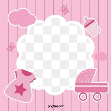 pink baby lovely photo frame, Lovely, Feeding Bottle, Baby Clothes PNG and Vector