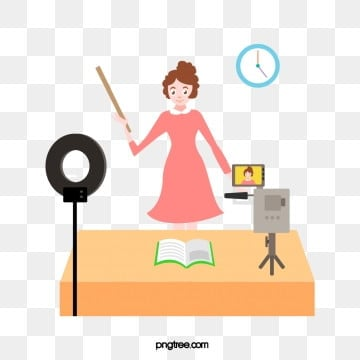 teacher live teaching, Teaching, Live Broadcast, Teacher PNG and Vector