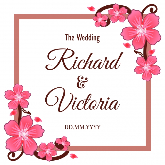 Wedding Frame Square Decoration Vintage Template Png And