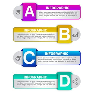 infographic gradiente business for text, Tag Business, Label For Text, Banner For Text PNG and Vector