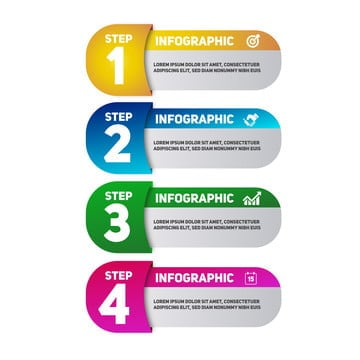 infographic rounded gradient topics, Infographic, Business, Chart PNG and Vector