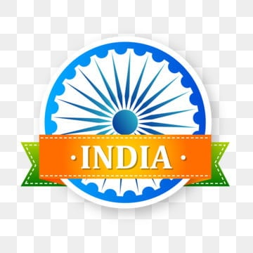 tricolor badge for indian independence day with ashok chakra, Day, Independence, India PNG and Vector