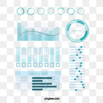blue gradient business data icon group diagram, Information Chart, Geometric, Business Affairs PNG and Vector