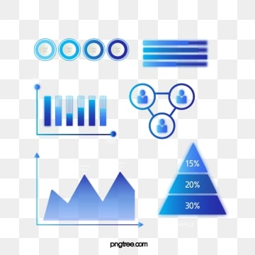 blue gradient business data information icon group diagram, Information Chart, Element, Luminescence PNG and Vector