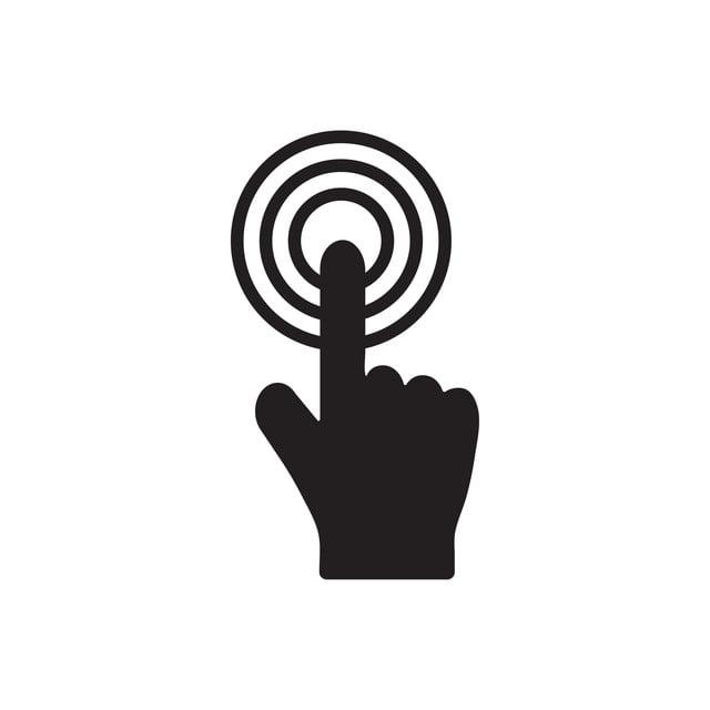 Haga Clic En El Icono Diseño Plantilla Vector Ilustración Aislado, Iconos De Plantilla, Hacer Clic, Icono PNG y Vector para Descargar Gratis | Pngtree
