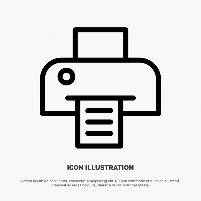 printer printing print line icon vector line icons 3d background png and vector with transparent background for free download https pngtree com freepng printer printing print line icon vector 4768502 html