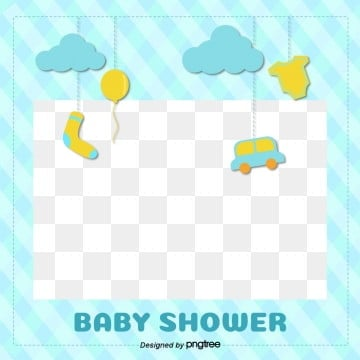 blue plaid baby supplies illustration border, Flaky Clouds, Lovely, Baby PNG and Vector