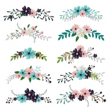 floral ornaments png images vector and psd files free download on pngtree https pngtree com freepng set of flower bouquet illustration for floral ornament and decoration 4766585 html