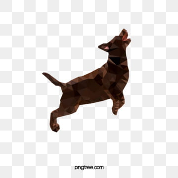 dark jumping polygon animal dog, Geometry, Animal, Image PNG and Vector