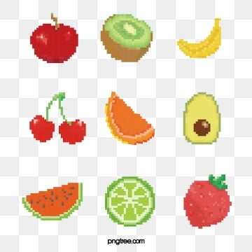 mosaic pixel colored fruit, Pixel, Color, Cherry PNG and Vector