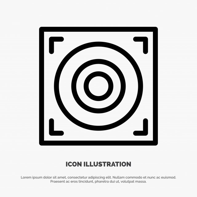 Web Design Speaker Line Icon Vector, Background, Black
