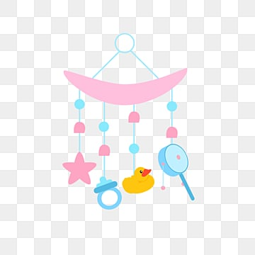 flat baby toys adorn lovely stars  moon pink blue, Pendant, Nipple, Baby Toys PNG and Vector