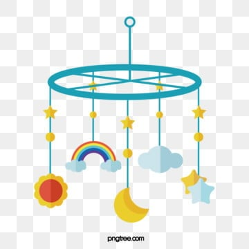 flat style baby toy pendant, Cloud, Sunlight, Rainbow PNG and Vector