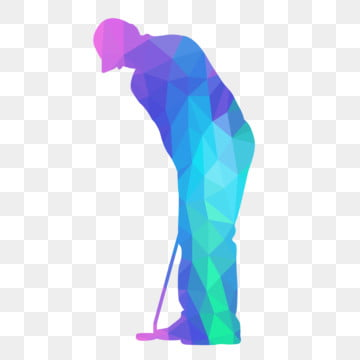 golf player holds stick with low poly style, Lowpoly, Golf, Sport PNG and Vector