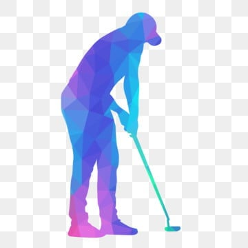 golfer holds stick with low poly style, Lowpoly, Golf, Sport PNG and Vector