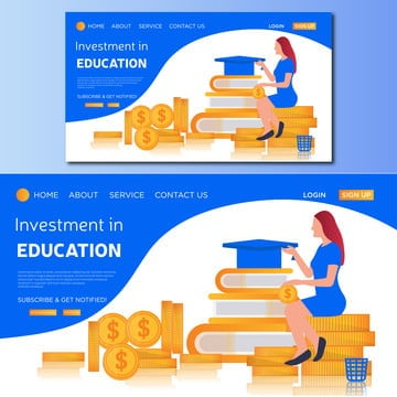 investment in education, Icon, Finance, Illustration PNG and Vector