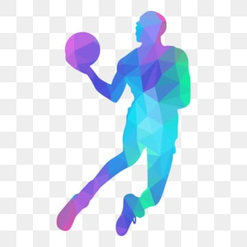 low poly of basketball player jumps with ball, Lowpoly, Basketball, Sport PNG and Vector