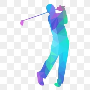 low poly of golf player swing their stick, Lowpoly, Golf, Sport PNG and Vector