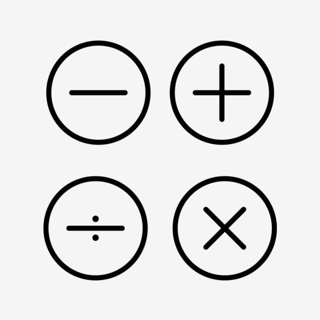 Math Symbols Line Black Icon, Math Symbols, Symbols, Symbol
