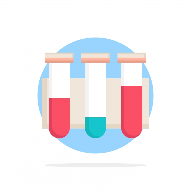 Test Tube Science Laboratory Blood Flat Color Icon Vector
