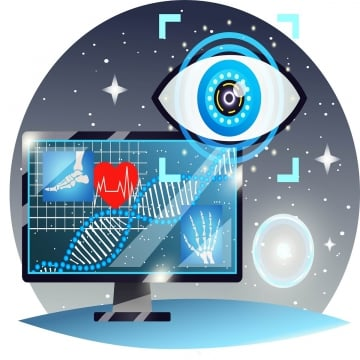 5G technmology DNA and electronic eye, 5G Technmology DNA And Electronic Eye, Electronic Eye, DNA PNG and Vector