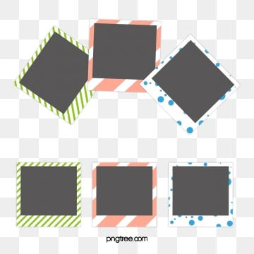 border elements of polaroid cartoon photo paper, Cartoon, Polaroid, Color PNG and Vector